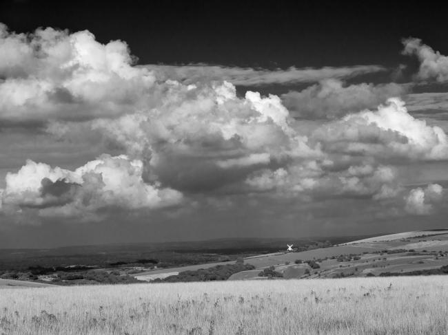 Distant windmill