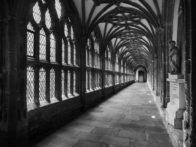 Cloisters in Wells Cathedral