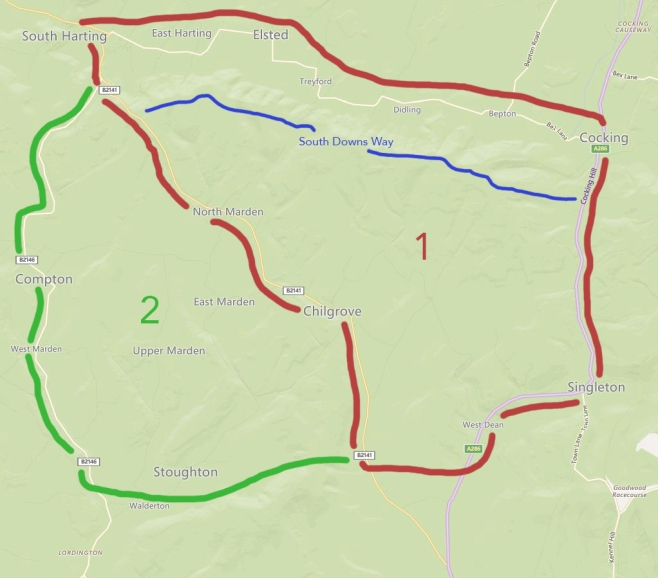 South Downs Project Map